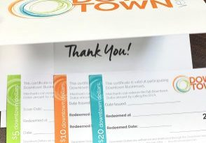 Downtown Vernon Dollars. Here to assist those that are difficult to buy for.  Contact us, for further information.